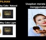 Bedak Melia Two Way Cake Natural & Light