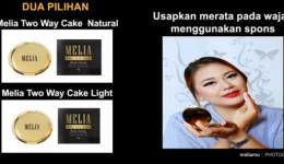 Bedak Melia Two Way Cake Natural & Light